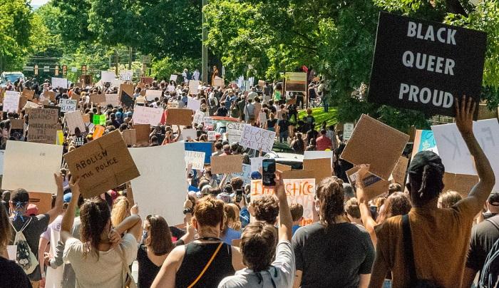 Manifestation de Black Lives Matter à Charlottesville, Virginie, le 30 mai dernier. Photo: Jake Vanaman (CC BY-SA 4.0)