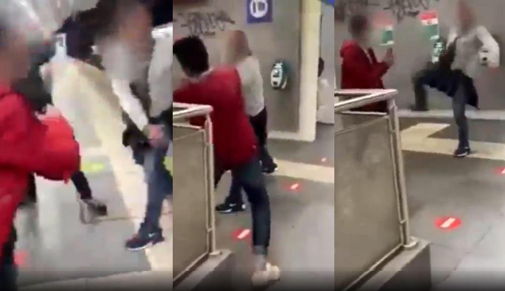 Rome agression homophobe métro