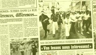 Presse Pride 1981 Suisse