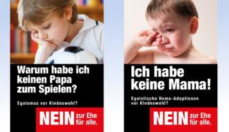 Affiches non mariage pour tous Suisse